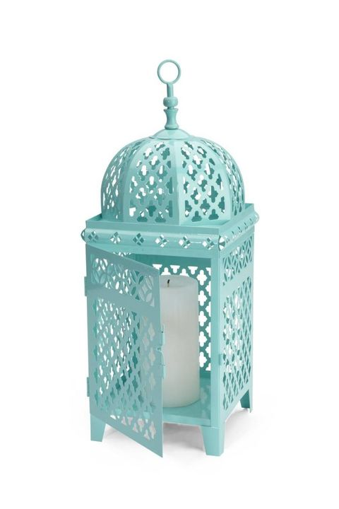 Teal, Aqua, Turquoise, Cage, Silver, Finial, Turquoise, Ornament, Wicker,