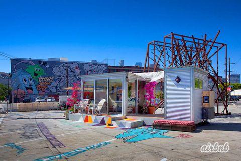 Door, Sidewalk, Urban design, Graffiti, Mural, Driveway,