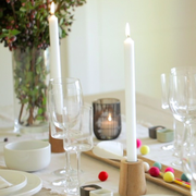 Dishware, Glass, Serveware, Drinkware, Stemware, Candle, Interior design, Tableware, Champagne stemware, Candle holder,