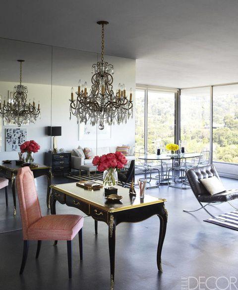 Interior design, Room, Floor, Table, Furniture, Flooring, Interior design, Glass, Chair, Light fixture,