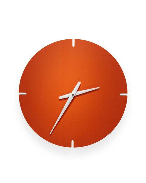 Orange, Amber, Peach, Font, Clock, Wall clock, Carmine, Colorfulness, Tan, Symbol,