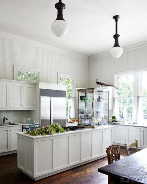 Room, White, Kitchen, Green, Furniture, Countertop, Interior design, Property, Floor, Ceiling,