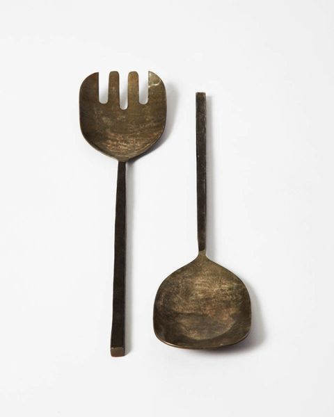 Kitchen utensil, Cutlery, Fork, Metal, Bronze, Still life photography, Steel, Tool, Household silver, Bronze,