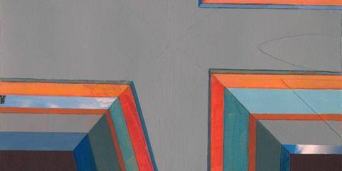Blue, Colorfulness, Red, Line, Orange, Majorelle blue, Paint, Pattern, Electric blue, Rectangle,