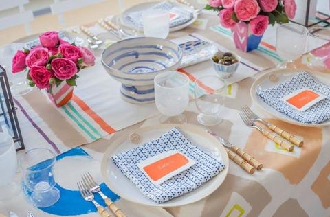 Tablecloth, Serveware, Dishware, Petal, Table, Pink, Linens, Flower, Napkin, Centrepiece,
