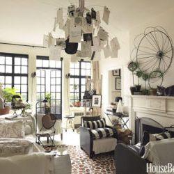 organized furniture in studio apartment