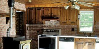 See How Bold Neutrals Transformed This Old-Fashioned Kitchen