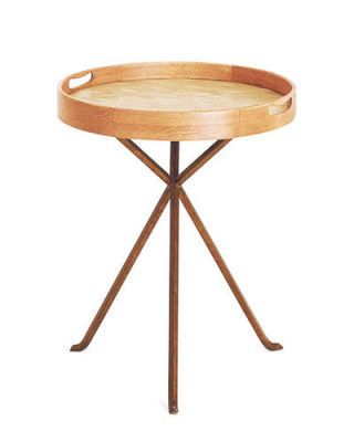 Round Shagreen Tray Table by Julian Chichester from Mecox Gardens