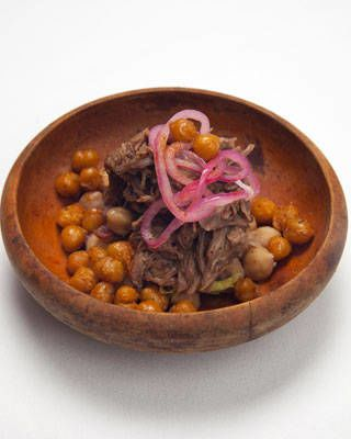 Best Appetizer: North African-Inspired Goat with Chickpea Salad