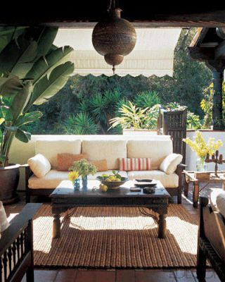 Ben Stiller and Christine Taylor's Terrace