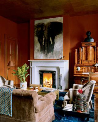 Miles Redd Interiors Of Greek Revival House Nyc Brick