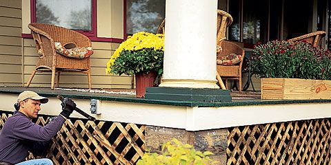 How To Replace A Porch Lattice