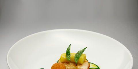 Michael Voltaggio's Cod with Parsley Sauce, Billi-Bi Croquette, and Zucchini Tenderloin