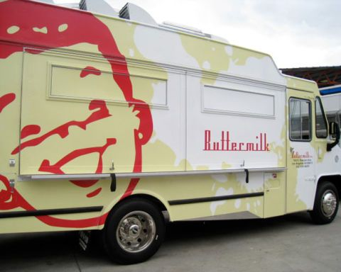 Photos of fashionable food trucks around the country for Food truck design app