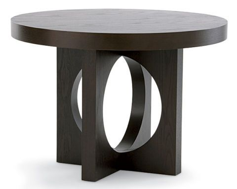 Round Dining Table with Cutout Base by West Elm