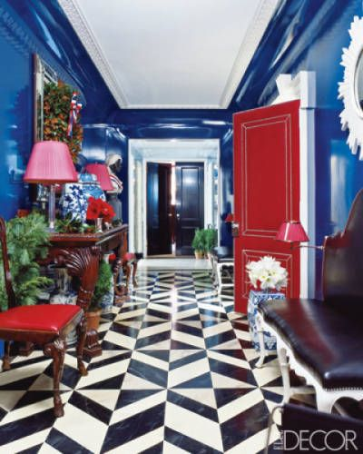 Red White And Blue Rooms Bright