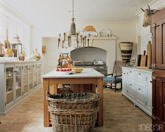 15 Rustic Kitchen Decor Ideas - Country Kitchens Design - Elle Decor