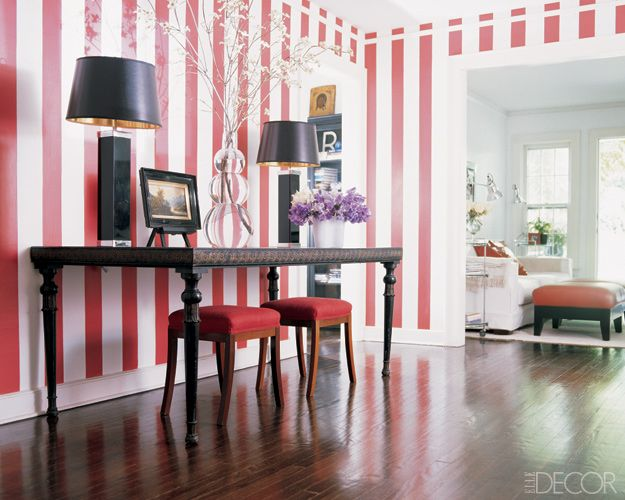 Striped Rooms Decorating With Stripes