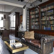 Interior design, Room, Lighting, Wood, Floor, Living room, Shelf, Ceiling, Couch, Furniture,