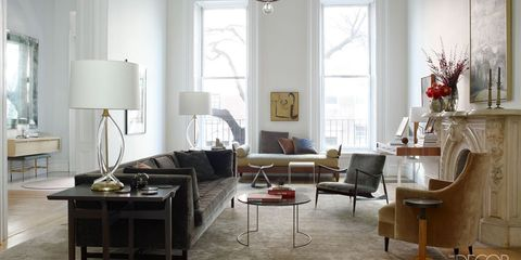 Room, Interior design, Floor, Furniture, Table, Living room, White, Flooring, Home, Ceiling,