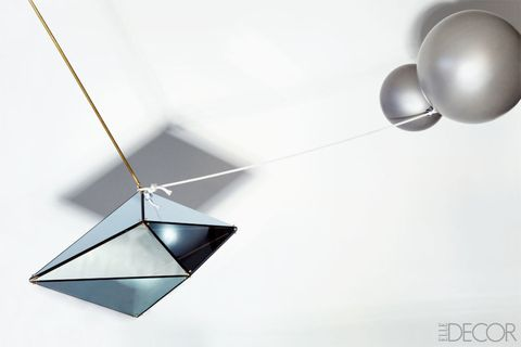 Balloon, Light, Teal, Triangle, Aqua, Material property, Light fixture, Design, Circle, Sphere,