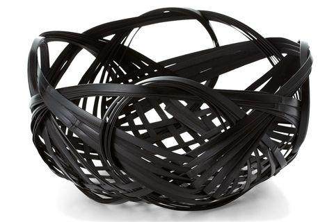 White, Black, Wicker, Basket, Storage basket, Home accessories, Still life photography, Plastic,