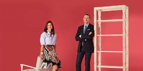 Collar, Red, Shirt, Coat, Standing, Suit trousers, Dress shirt, Blazer, Fashion, Bag,
