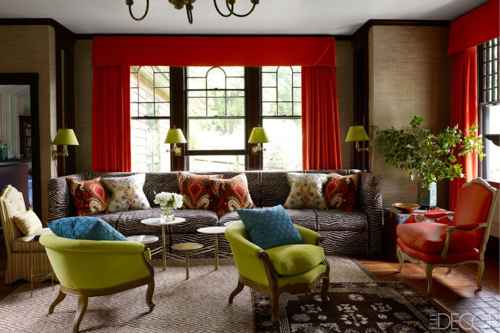Asked To Update A Beloved Family Home In Tuxedo Park, New York, Designer  Jeffrey Bilhuber Fashions The Perfect Mix Of Old And New, Colorful And  Quirky