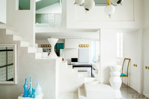 Blue, Green, Interior design, Room, Property, Architecture, Wall, Floor, White, Ceiling,