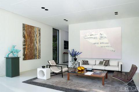 Room, Interior design, Floor, Flooring, Wall, Ceiling, Furniture, Interior design, Living room, Teal,