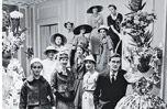 People, Social group, Monochrome, Photograph, White, Monochrome photography, Black-and-white, Snapshot, Ceremony, Light fixture,