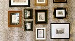Wall, Photograph, White, Rectangle, Picture frame, Collection, Grey, Beige, Interior design, Snapshot,