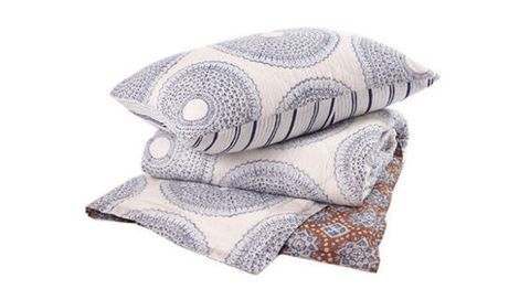 Lapis quilt by John Robshaw Textiles