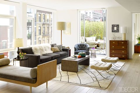 Living room, Furniture, Room, Interior design, Property, Coffee table, Building, Table, Couch, Floor,