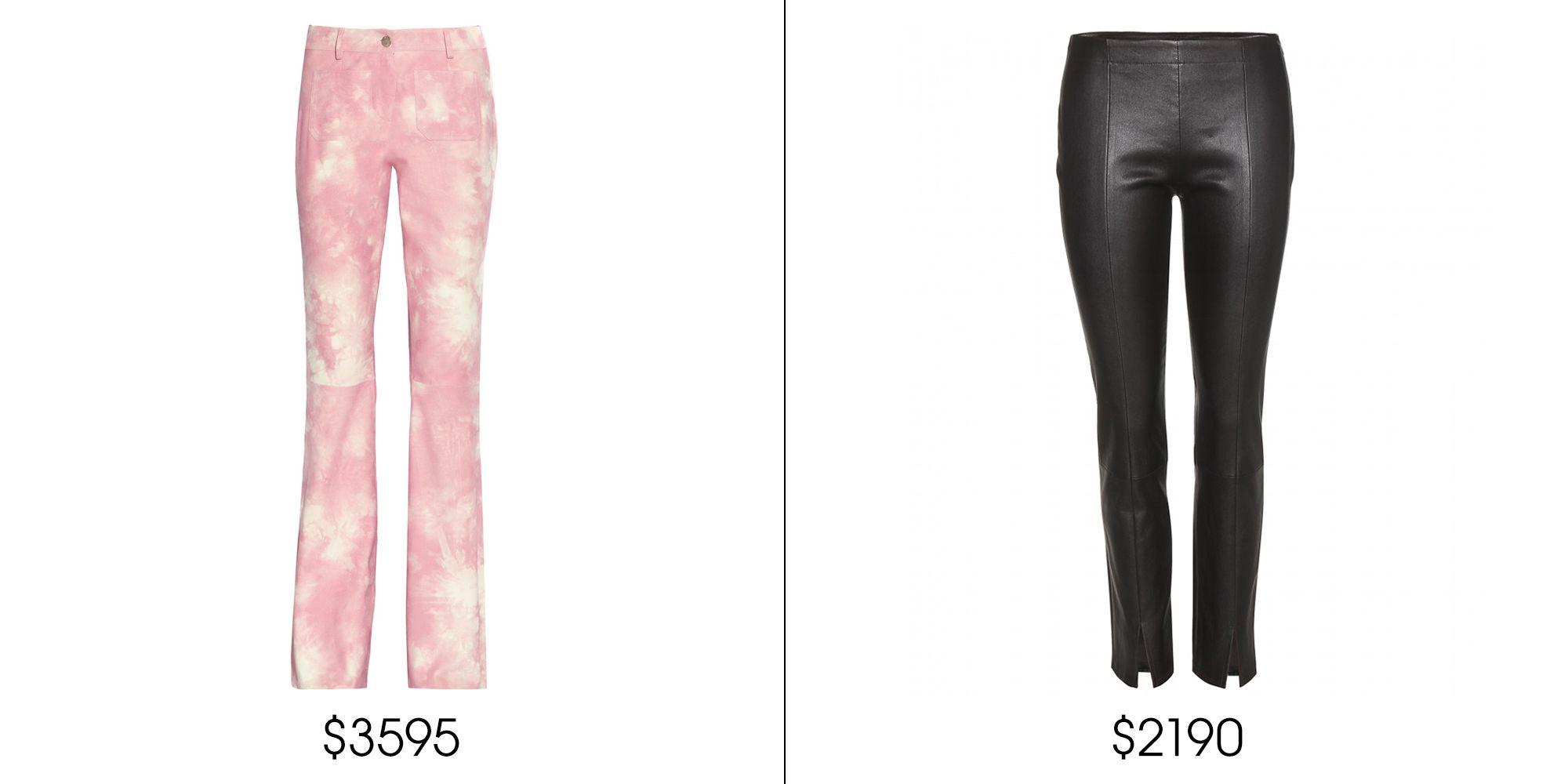 "Michael Kors Printed Suede Wide-leg Pants, $3,595; <a href=""http://www.net-a-porter.com/us/en/product/514466"" target=""_blank"">net-a-porter.com</a>    The Row Delors Leather Trousers, $2,190; <a href=""http://www.mytheresa.com/en-us/delors-leather-trousers.html"" target=""_blank"">mytheresa.com</a>"