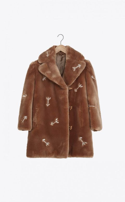 "Carven Embellished Faux Fur Coat, $749;&nbsp;<a href=""http://eu.carven.com/eu_en/femme/pret-a-porter/manteaux-et-vestes/faux-fur-7.html"">Carven.com</a>  <!--EndFragment-->"