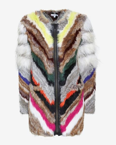 "Elizabeth and James Tarra Multi Color Rabbit Fur Zip Jacket, $1,495&#x3B; <a href=""http://www.intermixonline.com/product/elizabeth+and+james+tarra+multi+color+rabbit+fur+zip+jacket.do?country=US&amp&#x3B;gclid=CN7w26mYj8MCFaNj7Aods2gAtg"">intermix.com&nbsp&#x3B;</a>