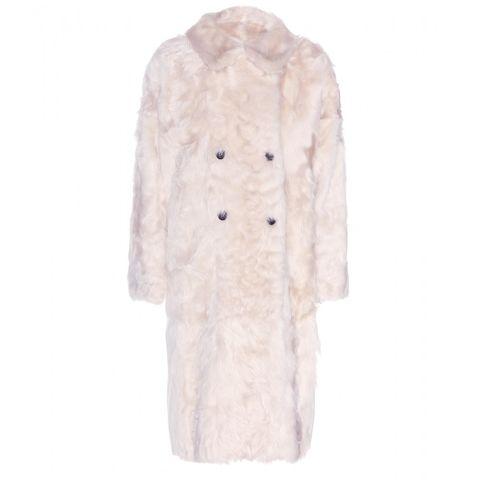 "Marni Wool and Goat Fur Coat, $4,812; <a href=""http://www.mytheresa.com/en-us/wool-and-goat-fur-coat.html"">mytheresa.com</a>"