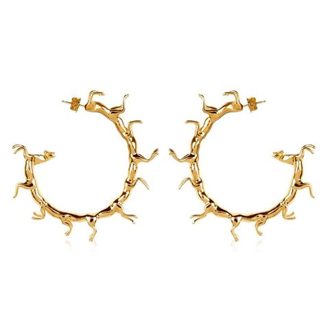 "SMITH/GREY Hoop Earrings with Horses, $701; <a href=""http://smith-grey.com/collections/all-collections-for-her/products/hoop-earrings"">smith-grey.com</a>"