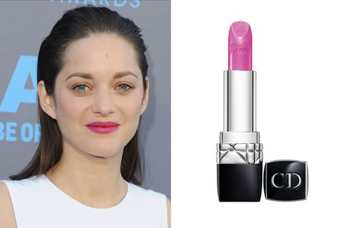 "The French beauty stepped out at the Critic's Choice Awards in a bold pink lipstick with blue undertones that popped against her&nbsp;white gown and porcelain skin.&nbsp;  Rouge Dior Couture Colour in Rose Caprice, $35;&nbsp;<a href=""http://www.dior.com/beauty/en_us/fragrance-and-beauty/makeup/lips/lipsticks/pr-lipsticks-Y0027850_F002782475-couture-color-voluptuous-care.html"">dior.com</a>"