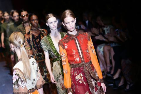 Head, Fashion show, Fashion model, Fashion, Youth, Model, Runway, Haute couture, Fashion design, Lipstick,