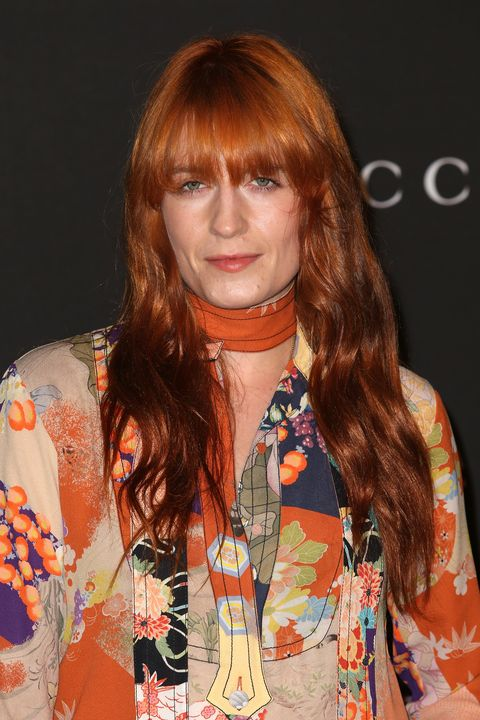 LOS ANGELES, CA - NOVEMBER 01: Singer Florence Welch of Florence and the Machine attends the 2014 LACMA Art + Film Gala honoring Barbara Kruger and Quentin Tarantino presented by Gucci at LACMA on November 1, 2014 in Los Angeles, California.  (Photo by Frederick M. Brown/Getty Images)