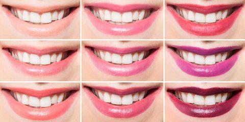 Smile, Lip, Facial expression, Tooth, Jaw, Organ, Beauty, Close-up, Magenta, Eyelash,