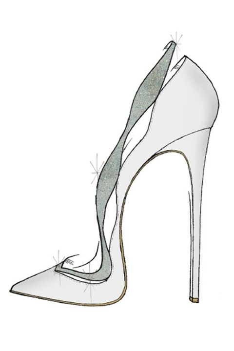 """My vision of the glass slipper was inspired by the timeless and feminine beauty that I believe Cinderella and the Alexandre Birman brand both share. I reinterpreted our classic Johanna pump, this time giving it a fashionable and romantic twist with satin and Swarovski crystals. It's a shoe I imagine a modern princess would wear."""