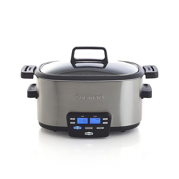 """""""A slow cooker is an easy, breezy way to enjoy cooking in the winter. A little bit of prep and you can toss your meat of choice into this for a few hours and have a full day. It's as necessary as a BBQ in the summer.""""  Cuisinart 6 qt. 3-in-1 Multicooker, $159; <a href=""""http://www.crateandbarrel.com/cuisinart-6-qt.-3-in-1-multicooker/s633236"""">crateandbarrel.com</a>"""