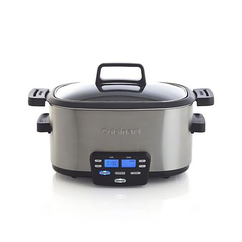 """A slow cooker is an easy, breezy way to enjoy cooking in the winter. A little bit of prep and you can toss your meat of choice into this for a few hours and have a full day. It's as necessary as a BBQ in the summer.""  Cuisinart &nbsp;6 qt. 3-in-1 Multicooker, $159; <a href=""http://www.crateandbarrel.com/cuisinart-6-qt.-3-in-1-multicooker/s633236"">crateandbarrel.com</a>"