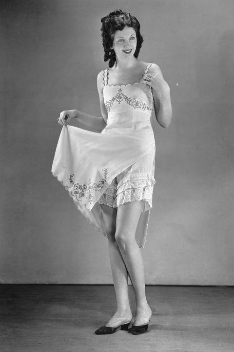 f694d444094 Fashionable Underwear. Photograph. Around 1930. (Photo by Austrian Archives  (S)