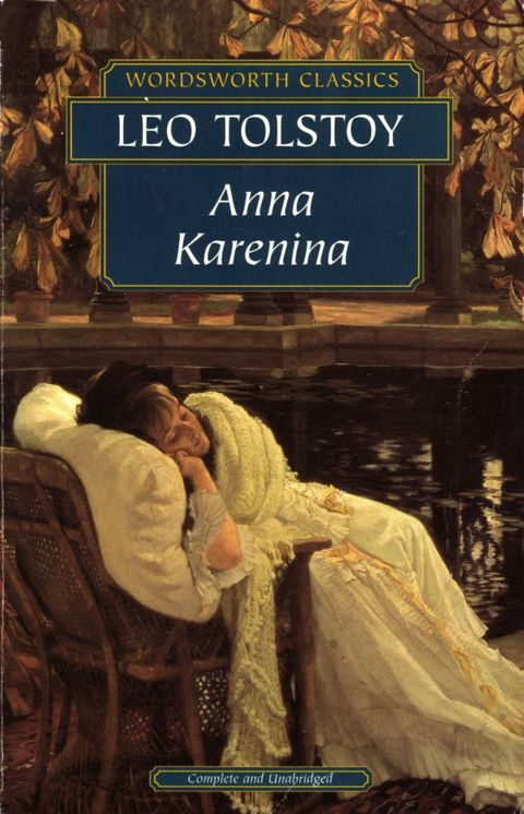 "As you probably know, <em>Anna Karenina</em> recounts the disastrous love affair between a beautiful Russian Countess and Vronsky, a dashing Russian officer, in 19th century Russia. Tolstoy weaves in a cast of characters to bring to life the Golden Era of Russian fiction. People often shy away from Anna K. because ""it's too hard"" or ""it's too long,"" but once you start reading, you'll forget why you were ever afraid. Women in my groups have been known to start reading on a Friday and not emerge from their homes."