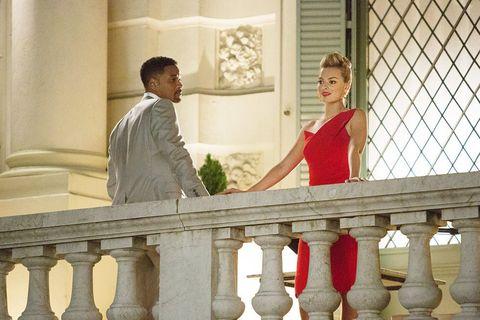 Dress, Baluster, Love, Conversation, Column, Mesh, Balcony, Fence, One-piece garment, Handrail,