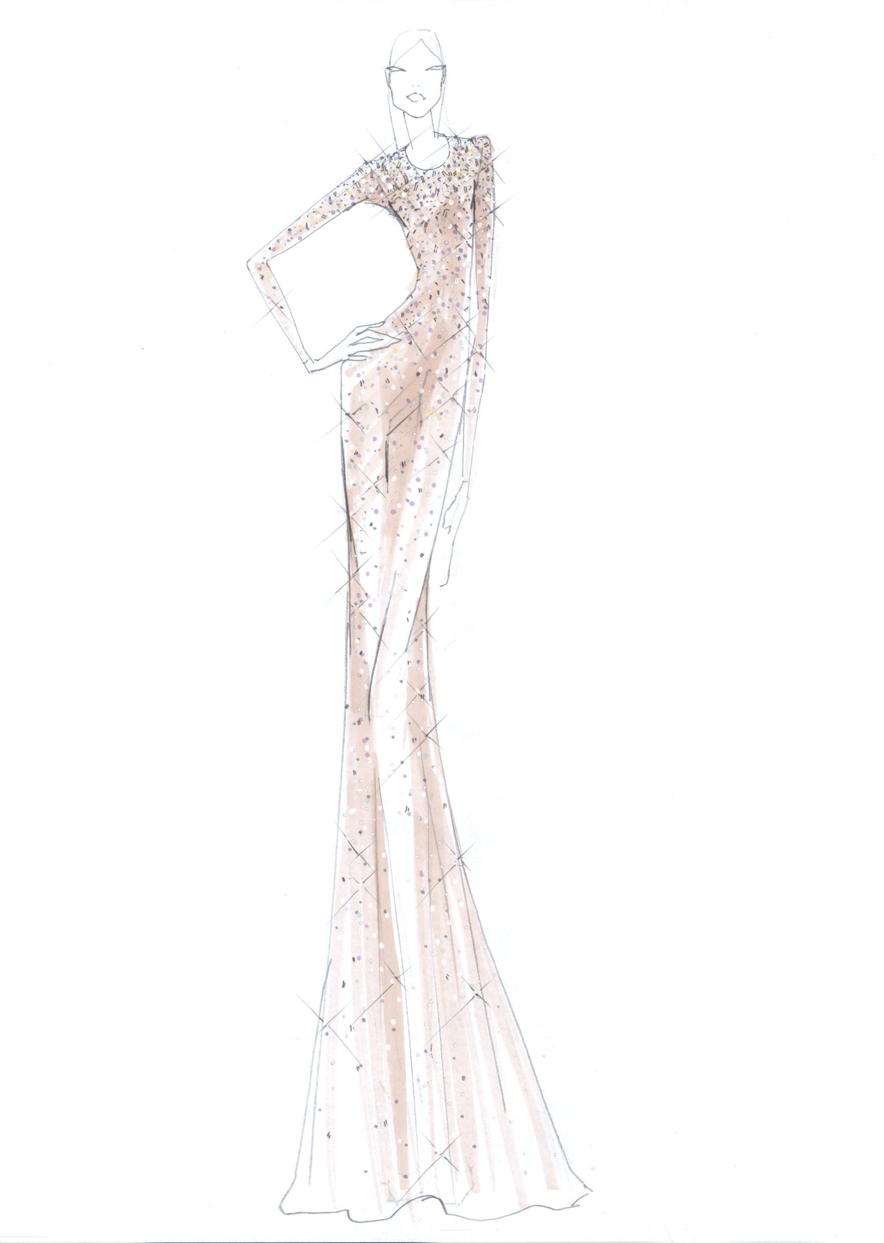 Fashion Design Sketches Of Dresses 2017